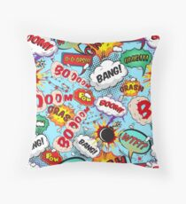 Comic book Throw Pillow