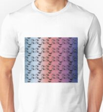 Octopus and Whale Polka Dots Black and Gray Ombre Clouds 1 Pattern  T-Shirt