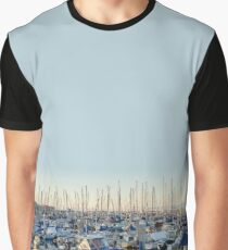 Fishing Boats in the Harbor at Sunset Graphic T-Shirt