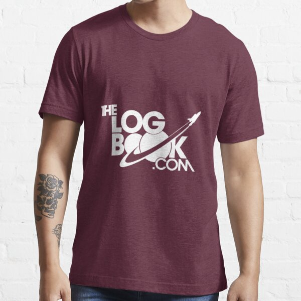 theLogBook.com New Logo in white - Shuttle Essential T-Shirt