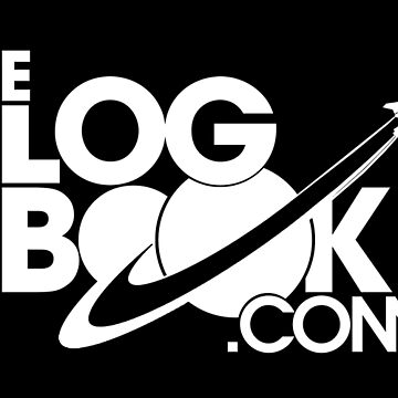 theLogBook.com New Logo in white - Shuttle by thelogbook