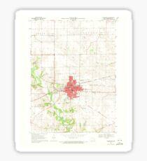 USGS TOPO Maps Iowa IA Washington 175691 1969 24000 Sticker