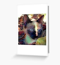 Zoe Cat Greeting Card
