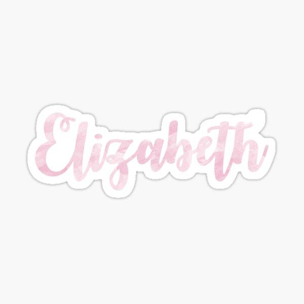 Elizabeth - Pink Watercolor Sticker
