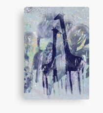 giraffes and trees Canvas Print