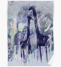 giraffes and trees Poster
