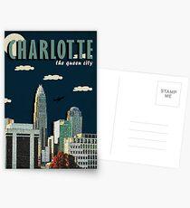 "CHARLOTTE ""QUEEN CITY"" POSTER DESIGN Postkarten"
