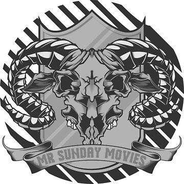 Mr Sunday Movies Skull by ScryveDezigns