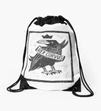 Raven King Drawstring Bag