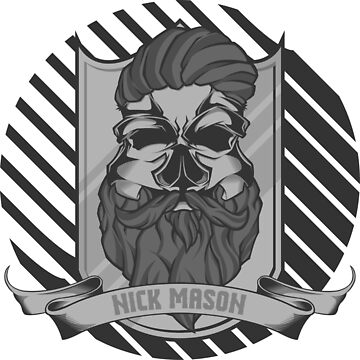 Nick Mason Skull by ScryveDezigns