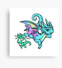 Rainbow Mama Dragon Canvas Print