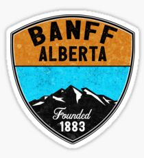 SKI BANFF ALBERTA CANADA Skiing Mountain Mountains Snowboard Hiking Nature  Sticker