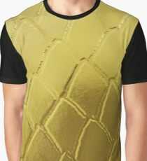 Gold Snake Scales Graphic T-Shirt