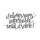 impossible + possible (blk) by hannahison