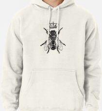 Queen Bee in Black Pullover Hoodie
