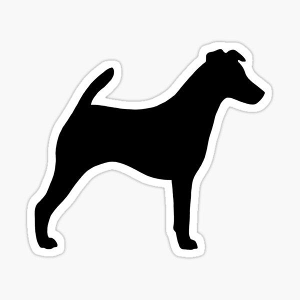 Smooth Fox Terrier Silhouette(s) Sticker