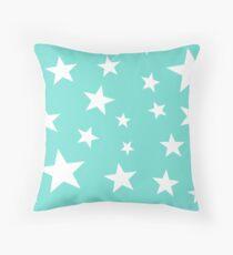 Star Spangled Turquoise Throw Pillow