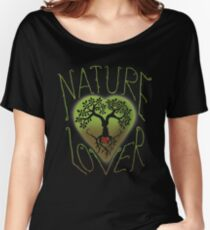 Nature Lover (Black) Women's Relaxed Fit T-Shirt