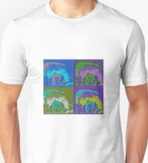 Four coloured sheep and their lambs Unisex T-Shirt