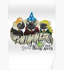 Puggles of the Bark Arts Poster
