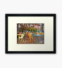 Autumn on the Terrace Framed Print