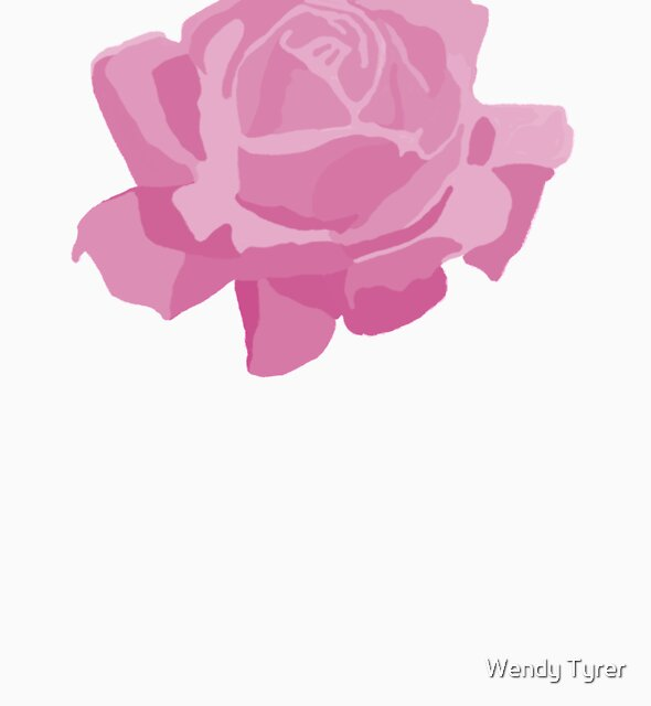 pink rose by Wendy Tyrer