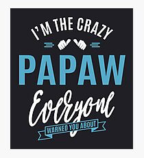 Crazy Papaw Photographic Print