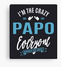 Crazy Papo Canvas Print