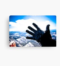 Freezing Hand Canvas Print