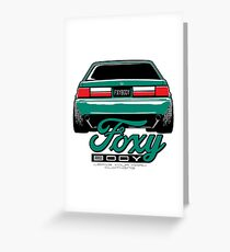 Foxy Body Mustang Greeting Card