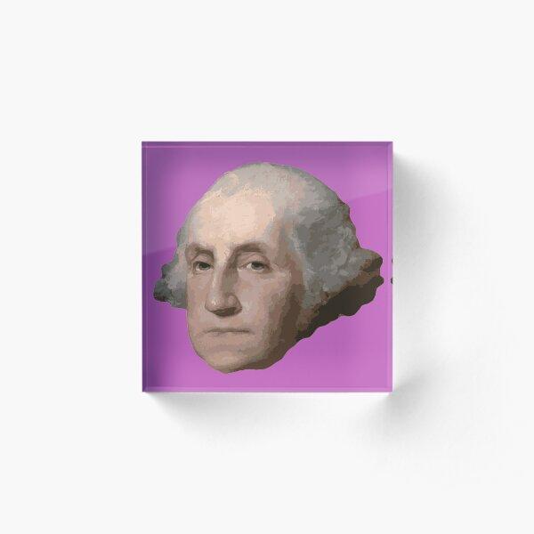 George Washington's Head Acrylic Block