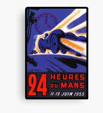 DU MANS: Vintage 24 Hour Race Advertising Print Canvas Print