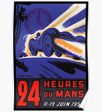 DU MANS: Vintage 24 Hour Race Advertising Print Poster