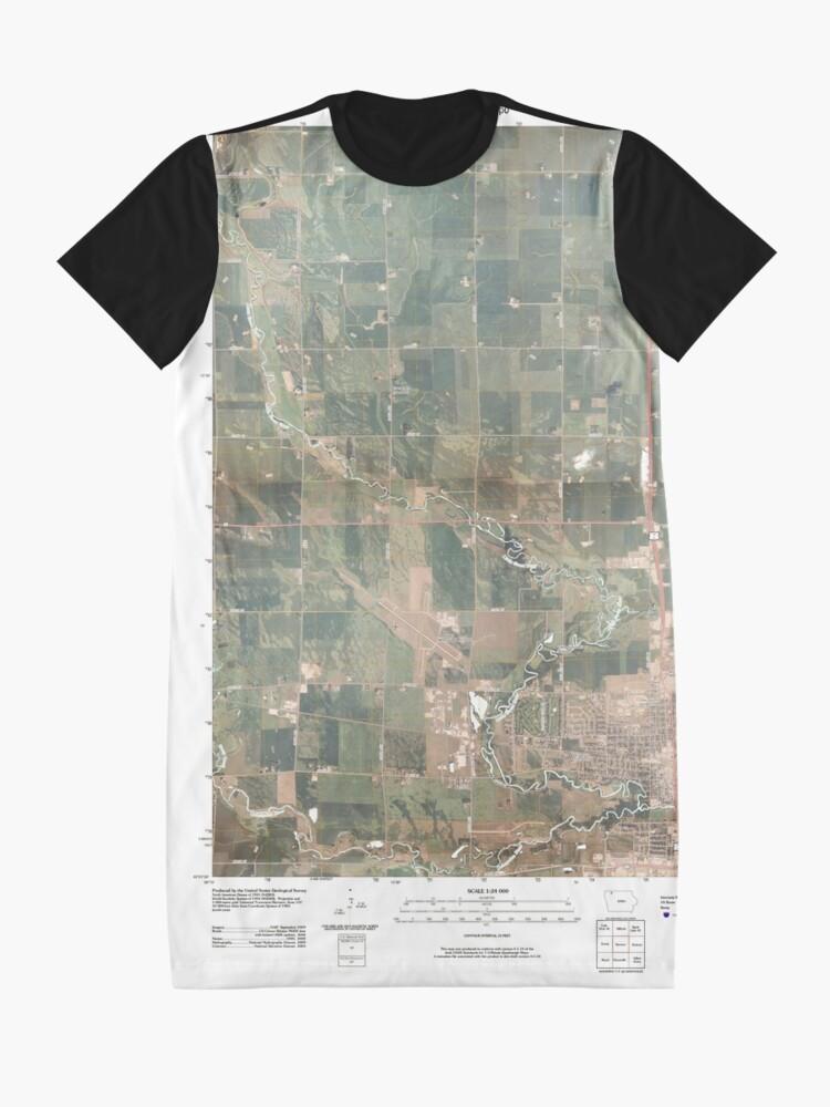 Alternative Ansicht von USGS TOPO Maps Iowa IA Spencer 20100514 TM T-Shirt Kleid