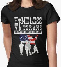 Homeless Veterans Women's Fitted T-Shirt