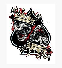 Skull and crown. Photographic Print