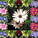 Bright and Beautiful - Floral Collage von BlueMoonRose