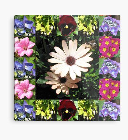 Bright and Beautiful - Floral Collage Metallbild