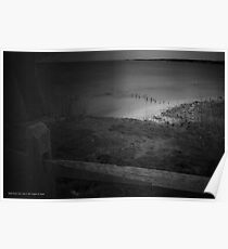 View Over The Fence On Hempstead Bay | Sands Point, New York Poster