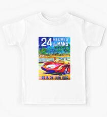 DU MANS: Vintage 24 Heures Auto Racing Print Kids Tee