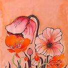Peach Poppies 2 by Angel Ray