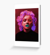 Marylin Monroe (red) Greeting Card