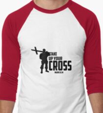 Take Up Your Cross Mark 8:34 Men's Baseball ¾ T-Shirt