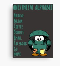 Anesthesia Alphabet Canvas Print