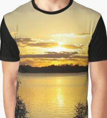 Green Sunset Graphic T-Shirt