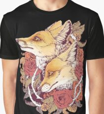Red Fox Bloom Graphic T-Shirt
