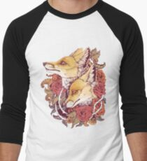 Red Fox Bloom Men's Baseball ¾ T-Shirt