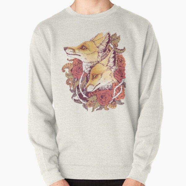 Red Fox Bloom Pullover Sweatshirt