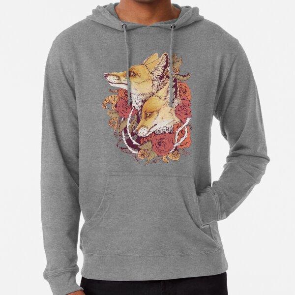 Red Fox Bloom Lightweight Hoodie