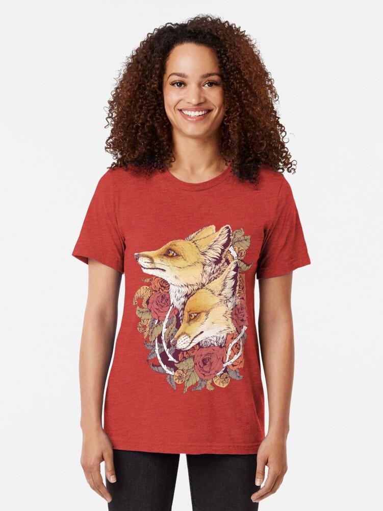 Alternative Ansicht von Rotfuchs-Blüte Vintage T-Shirt